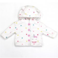 L2115: Baby Unicorn All Over Print Hooded Fleece Jacket (3-12 Months)