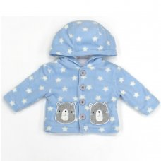 L2117: Baby Bear All Over Print Hooded Fleece Jacket (3-12 Months)