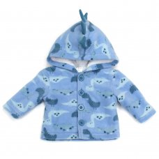 L2118: Baby Dinosaur All Over Print Hooded Fleece Jacket (3-12 Months)