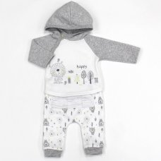 L1063: Baby Boys Lion Hooded Top & Pant Set (0-9 Months)