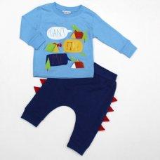 L2180: Baby Boys Dinosaur Top & Jog Pant Set (3-12 Months)