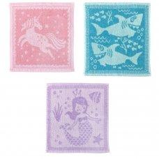 JTF164347: Jacquard Face Cloth Kids (30x30 CM)