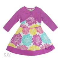 K11297: Girls Woven Dress & Bolero Set  (2-7 Years)