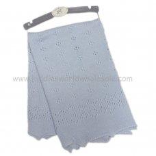 K11623: Baby Luxury Knitted Shawl- Blue