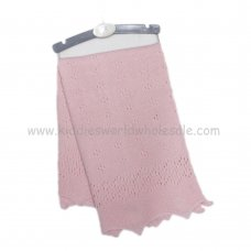 K11624: Baby Luxury Knitted Shawl- Pink