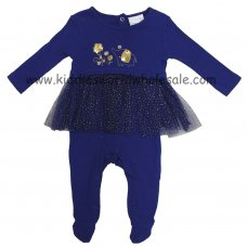 K12758: Baby Girls Cotton All In One With Joint Mesh Skirt (0-9 Months)