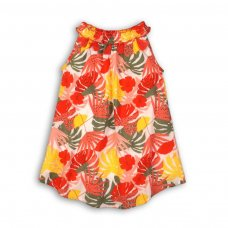 Kenya 4P: All Over Print Cotton Dress Fully Lined (3-8 Years)