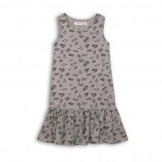 KGB DRESS 13: Grey Aop Dress (3-8 Years)