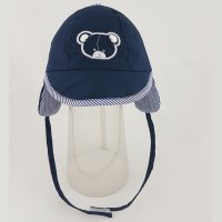 0201: Baby Boys Bear Motif Embroidered Cap (0-6 Months)