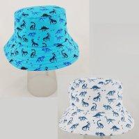 0245: Baby Boys All Over Print Dinosaur Bucket Hat (6-18 Months)
