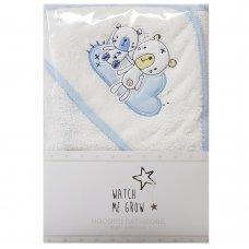 L1036: Baby Boys Bear Hooded Towel/Robe