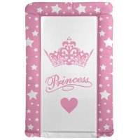 Pink Big Crown Princess Star Changing Mat