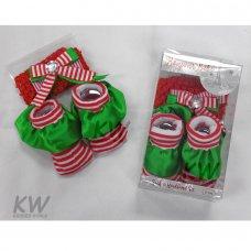 M14084: Baby Christmas Boxed Headband & Sock Set (0-6 Months)