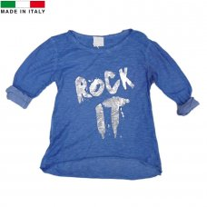 M14382: Girls Blue Long Sleeved Top (7-12 Years)