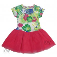 M14525: Baby Girls  Fuchsia Tutu Skirt Dress (3-6 Months)