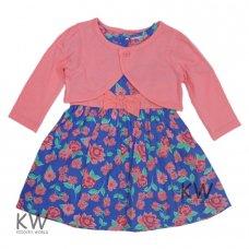 M14776: Baby Girls Woven Floral Dress & Bolero Set  (6-24 Months)