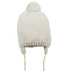 M4182: Girls Waffle Knit Hat With String Fastener (1-4 Years)