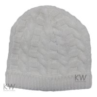 MC1822W: Baby White Knitted Hat (0-9 Months)