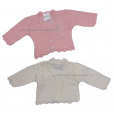 MC029P: Premature Baby Girls Knitted Cardigan