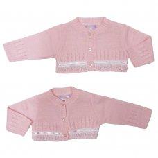 MC3021B: Baby Pink Bolero Cardigan (9-24 Months)