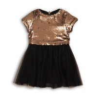 Metal 8P: Sequin Dress With Feather Trim Hem (8-13 Years)