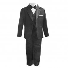 Black Tuxedo 5 Piece Slim Fit Suit
