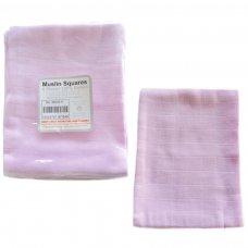 MS03-P: 6 pk Pink Muslin Squares