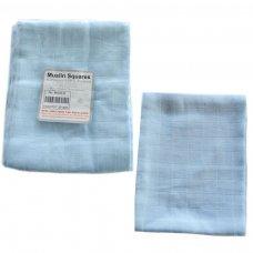 MS04-B: 6 pk Blue Muslin Squares