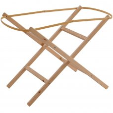 Natural Pine Moses Basket Folding Stand