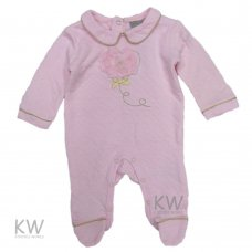 N15315: Baby Girls Flowers Heart Quilted All In One (0-9 Months)