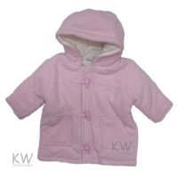 N15385: Baby Girls Cotton Lined Duffle Coat (3-24 Months)