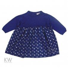 N15407: Baby Girls Knitted Top Net Skirt Dress (3-24 Months)