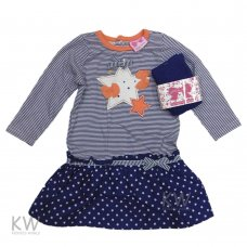 N15606: Baby Girls Star Mock 2 Piece Dress & Tights Set (3-24 Months)