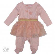 N15765: Baby Girls Butterflies Mock Tutu All In One (0-9 Months)