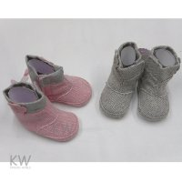 N15794: Baby Girls Tweed Boots (0-12 Months)