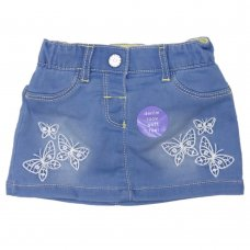 NX4: Baby Girls Denim Skirt (0-24 Months)