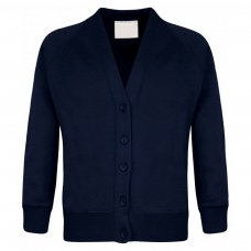 School Cardigan - Navy