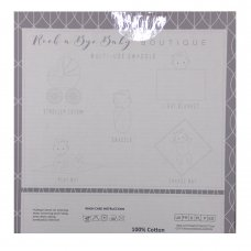 Q17907: Baby White Moons & Stars 3 Pack Muslin Swaddle (75 x 100 cm)