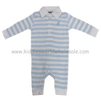 P16061: Baby Boys Stripe Romper With Stag Emb (0-12 Months)