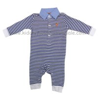 P16065: Baby Boys Stripe Romper With Stag Emb (0-12 Months)