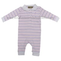P16071: Baby Girls Stripe Romper With Stag Emb (0-12 Months)