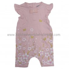 P16379: Baby Girls Floral With Glitter Print Romper (0-9 Months)