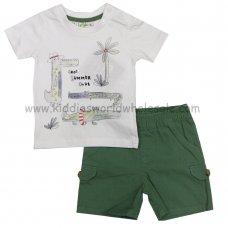 P16558: Baby Boys Crocodile Print T-Shirt & Twill Short Set (3-24 Months)