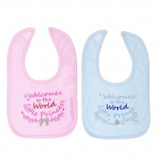 "P3594-BP: ""Welcome to the World"" Velcro Bib"