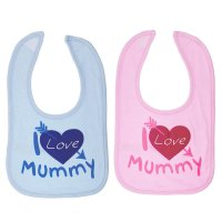 P3606-M: I Love Mummy Cotton Bib