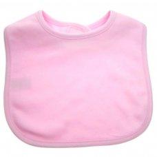 P4622: Plain Pink Velcro Bib