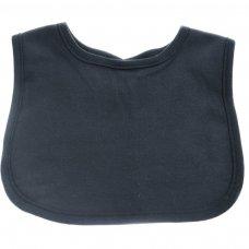 P4626: Plain Black Velcro Bib