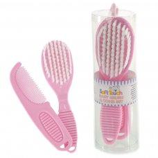 P604-P: Pink Brush & Comb Set