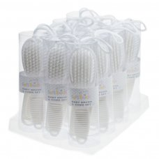 P604-W: White Brush & Comb Set
