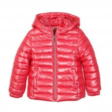 PAD 33: Girls Pink Puffa Jacket (3-8 Years)
